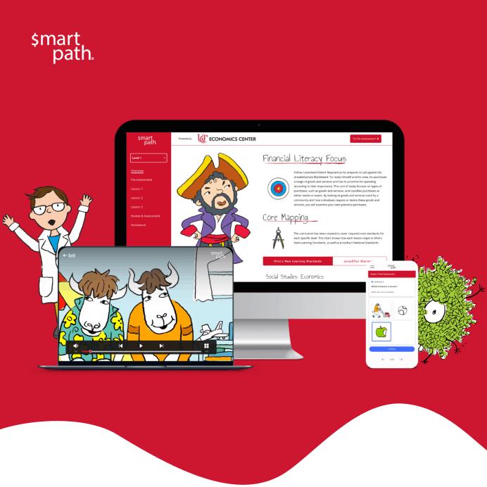Web design example of smartpath web platform (mockups)